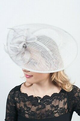 Large XL Ladies Fascinator Sinamay Hatinator Wedding Guest Race Day Fascinators