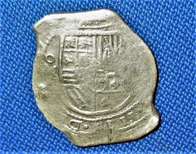 1600's Mo (D?) Spanish Colonial SILVER 8 Reales, COB COIN, The Mexico City Mint