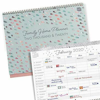 Boxclever Press 'Family Home' calendario 2020 da muro (IN INGLESE). Calendario