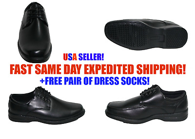 Mens M.Brother Black Formal Dress Shoes Laced Up Comfortable BLACK MONO 4811
