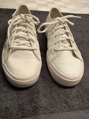 Adidas Nizza White Size 5 Junior Ortholite Leather Trainer