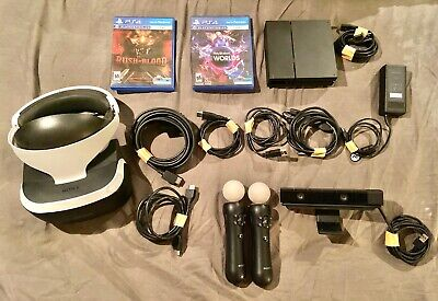 Barley Used Sony PlayStation VR Bundle (with 2 Games and Camera)