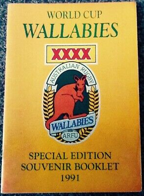 Signed Autographs - 1991 AUSTRALIA WORLD CUP SPECIAL EDITION SOUVENIR BOOKLET