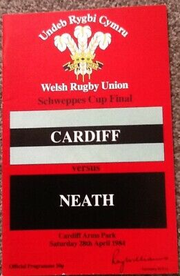 Signed Autographs - 1984 CARDIFF v NEATH - Schweppes WRU Cup Final