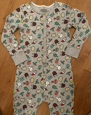 Girls Christmas Themed all In One Pyjamas/ Sleep suit - Next Age 10 Years