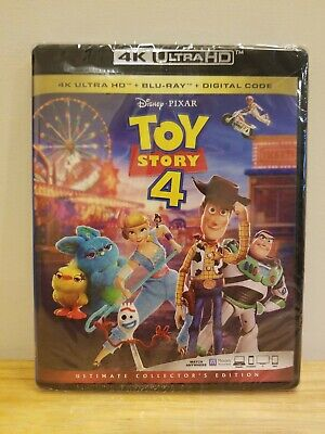 Toy Story 4 (4K Ultra HD + Blu-ray + Digital, 2019) Factory Sealed Ships Free!!!