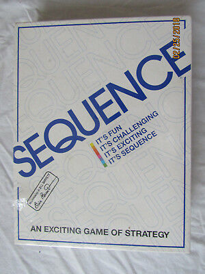 NIB Sequence Game Jax Complete Card Board Family Fun Strategy 1995 New Sealed