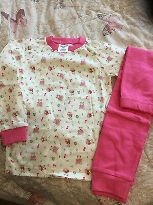 New Girls Pyjamas Age 3-4 Years , From Bonny , Colour Pink/ White , Teddy Bears