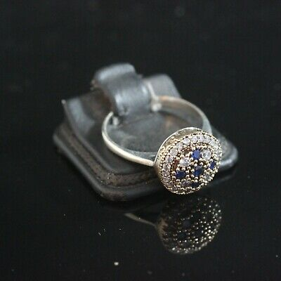 925 Sterling Silver Handmade Authentic Turkish Sapphire Ladies Ring Size 7-10