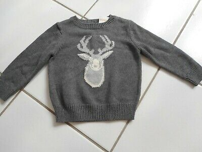 GYMBOREE REINDEER LODGE NAVY DEER SWEATER HAT 0 12 24 2T 3T 4T 5T NWT