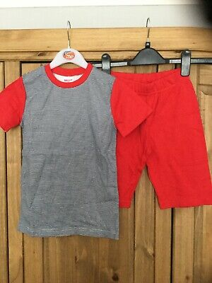 New Boys Pyjamas , Age 7-8 Yrs , Colour Red & Blue In Patten , From Bonny