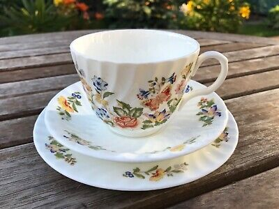 Vintage Aynsley China Cottage Garden Trio Cup Saucer Plate Flora English Collect