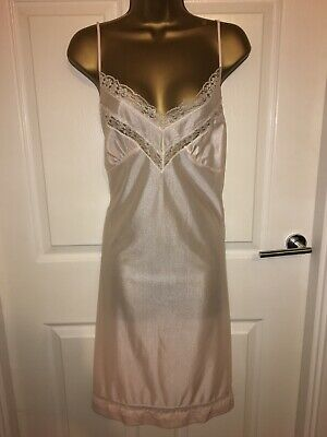 VTG Close Things Pink Silky Nylon Full Slip UK22/24
