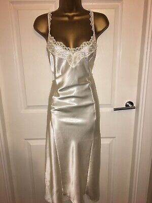 VTG Cream Glossy Polyester Full Slip UK20