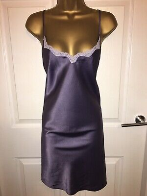 VTG Purple Glossy Polyester Full Slip UK22