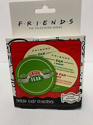 Friends Television Series TV Show Central Perk Trivia Game - 20 Quiz Coasters