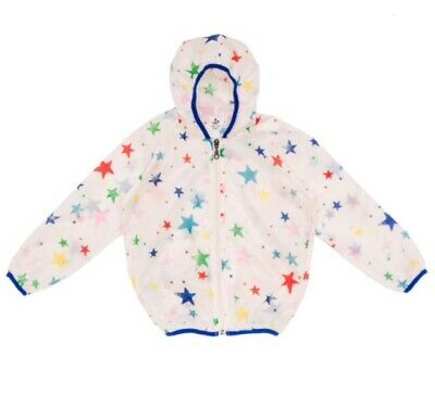 Noe & Zoe Berlin Kids Unisex Multi Star Print Windbreaker. Age 6Years. Bnwt