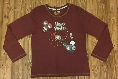 PRIMARK Ladies Girls HARRY POTTER CARTOON Pyjama Pajama T Shirt Tee Top Pyjamas