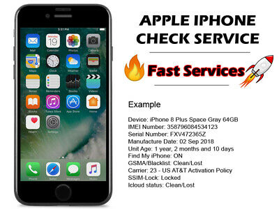 apple iphone check carrier SIMlock icloud status FMI instant service 10min