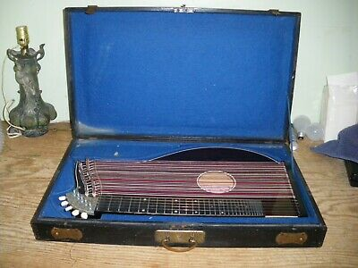 Antique Zither in Original Box made in Germany A. E. Stamm plus Music Books