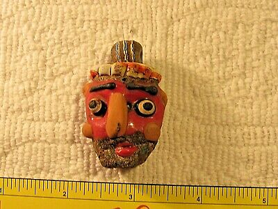 very rare phoenician face pendant-super quality 300B.C.