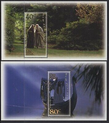 New Zealand 2001 Lord Of The Rings-Fellowship (6) Miniature Sheets Mnh