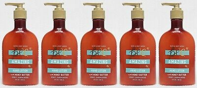 5 Bath Body Works Bee Amazing HONEY SANDALWOOD Hand Lotion Honey Butter