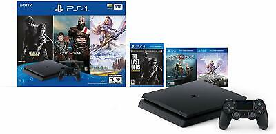 PlayStation 4 Slim 1TB Console Bundle Only on PS4 - Includes God of War, Horizon