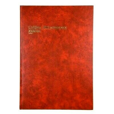 Collins 3880 Account Book A4 Journal 10856 Red