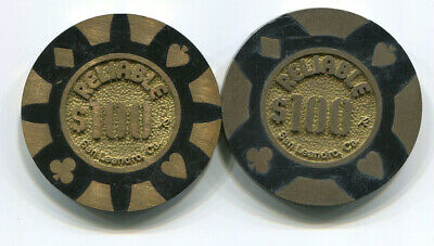 2 Different Reliable Manufacturer Sample Brass Core Casino Chips