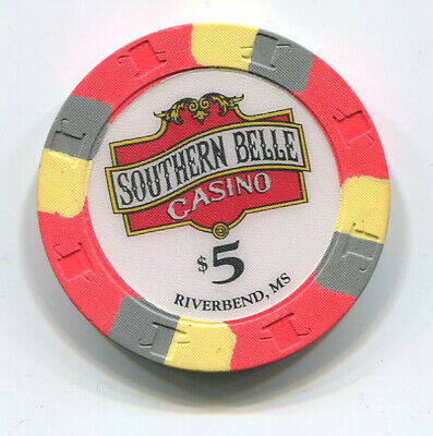 Southern Belle Riverbend Mississippi Scarce Obsolete $5 Casino Chip