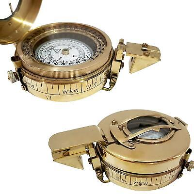 Magnetic Military Brass Compass Nautical Handmade Fully Functional Antique Gift