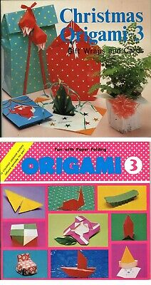 Two Origami Books & Colourful Paper - Have Fun With Japanese Paper Folding