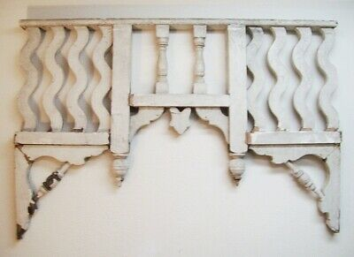"""victorian gingerbread salvaged COMPONENTS applied to rustic board 20/"""" x 9.75/"""""""