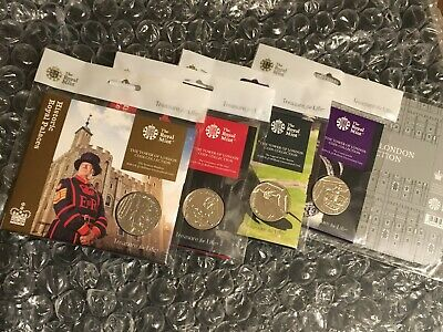 The Tower of London Brilliant Uncirculated  4 - Coin Series + Holder