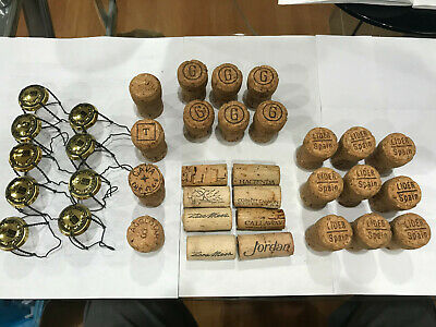 Assorted Wine Corks and Wire Holders Recycled (previously used)