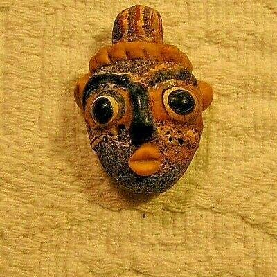 very rare phoenician face pendant 300B.C.super quality!