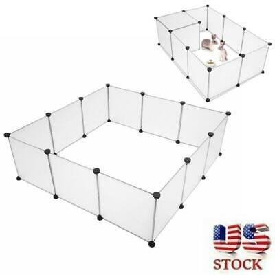 Portable Pets Playpen Large Plastic Yard Fence Exercise Barrier Play Pen Kennel