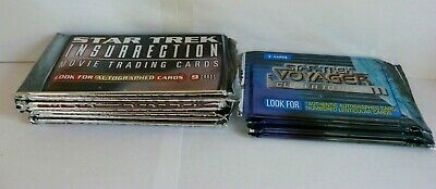 11 Packs - Star Trek Insurrection & Closer To Home Movie Trading Cards Bundle.