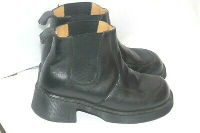 Vtg England Dr. Martens Black Leather Chelsea Chunky womens Boots uk 4 us 6