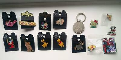 Walt Disney World and Universal Studios pins and souvenir medallion - immaculate