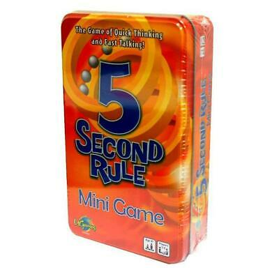 5 Second Rule Card Game in a Tin New