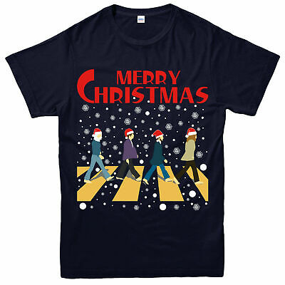 Merry Christmas Beatles T-shirt, English Rock Band Festive Gift T-shirt Top