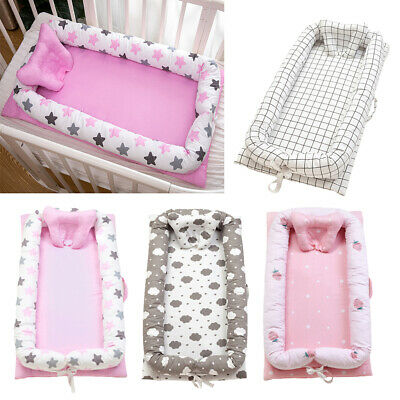 """Baby Bassinet Bed 35x20"""" Soft Breathable Portable Infant Lounger Crib Nest"""