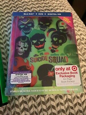 New Suicide Squad Target Exclusive Lenticular Digibook -Bluray/Dvd/Hd Disc Set