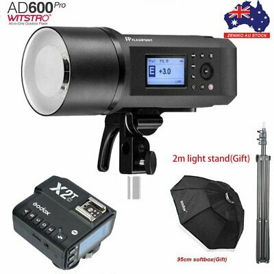 AU Godox AD600Pro TTL HSS Outdoor Flash+X2T-C Trigger For Canon+95cm Softbox Kit