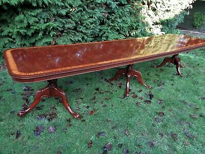 VERY LARGE 12ft 8` EXTENDING MAHOGANY DINING TABLE / ANTIQUE STYLE