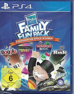 PS4 Spiel Hasbro FAMILY FUN PACK Monopoly Risiko Trivial Pursiut Boogle