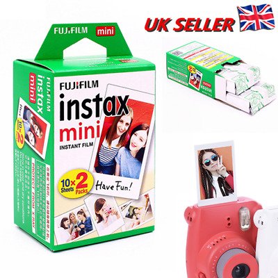 30 Shots Fuji Instax Mini Film for Fujifilm Mini 8 7s 9 & Mini 90, 50 Cameras UK