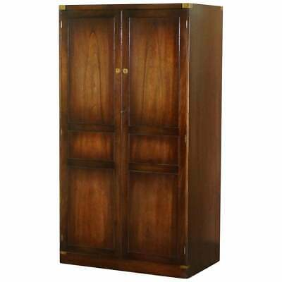 1 Of 2 Rrp £7999 Stunning Bevan Funnell Military Campaign Wardrobes Brass Handle